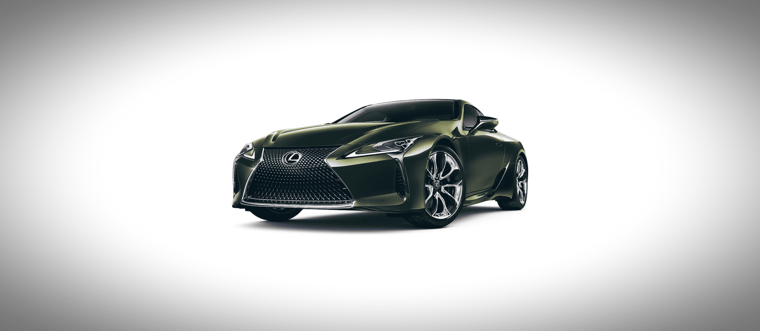 A car on a white background. (2021 Lexus LC) [Front Angled]