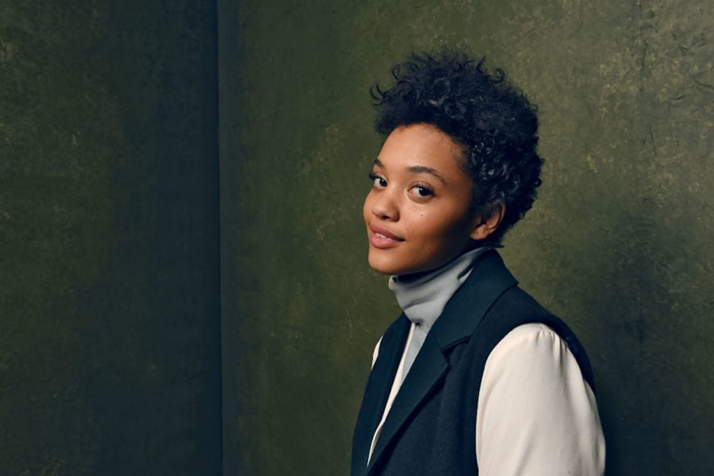 A photo of the actor Kiersey Clemons.