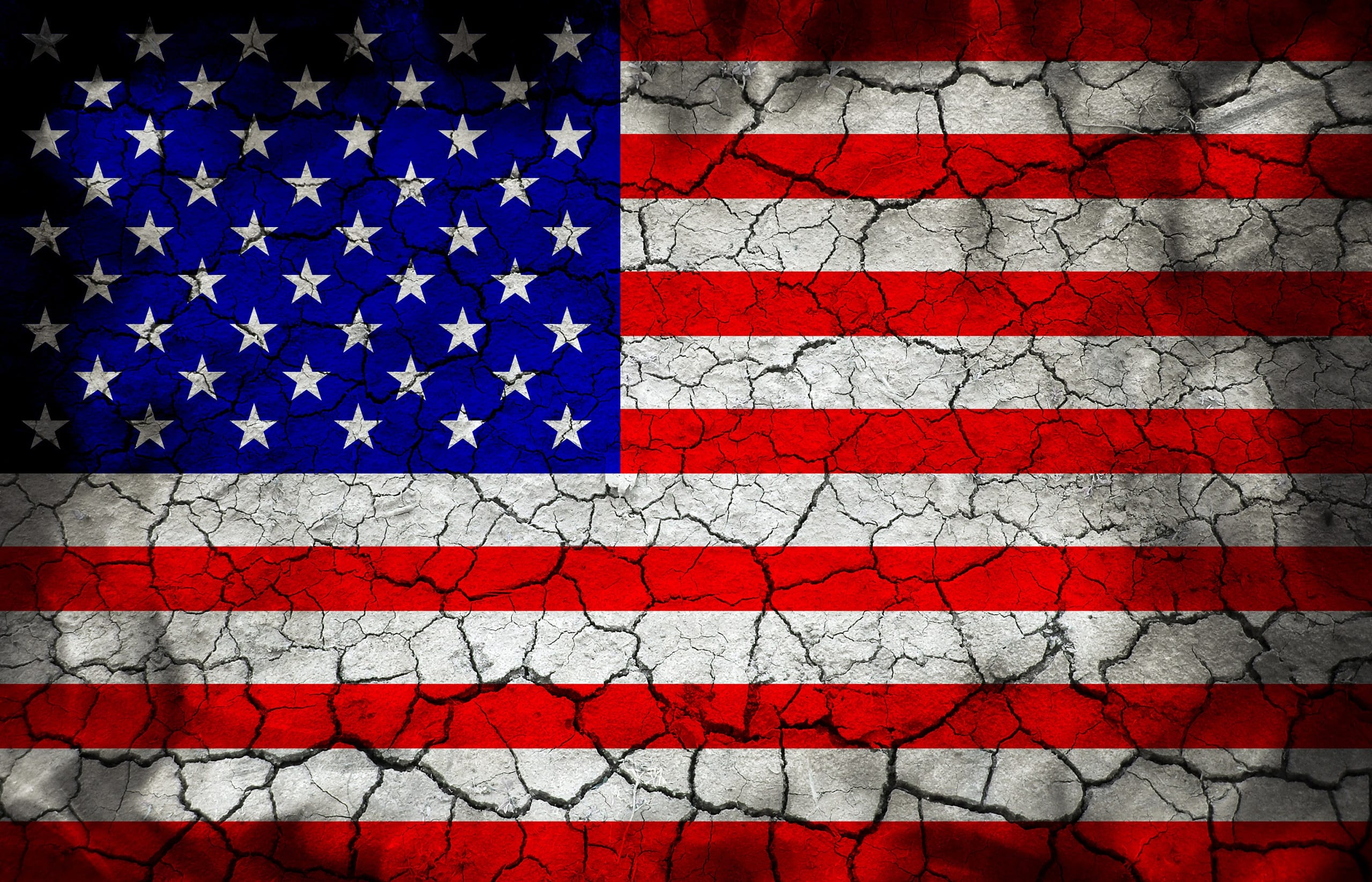 A crumbling United States Flag