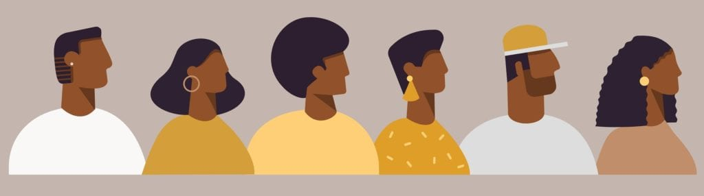 Avatars of African American people.