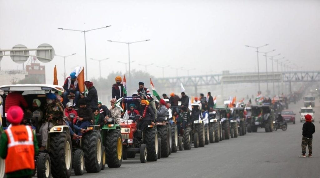 India Farmers Protest Tractor Rally