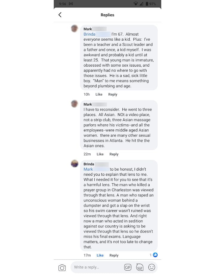 A conversation about the targeted Asian Massage Parlor Murders in Atlanta - words matter part 5