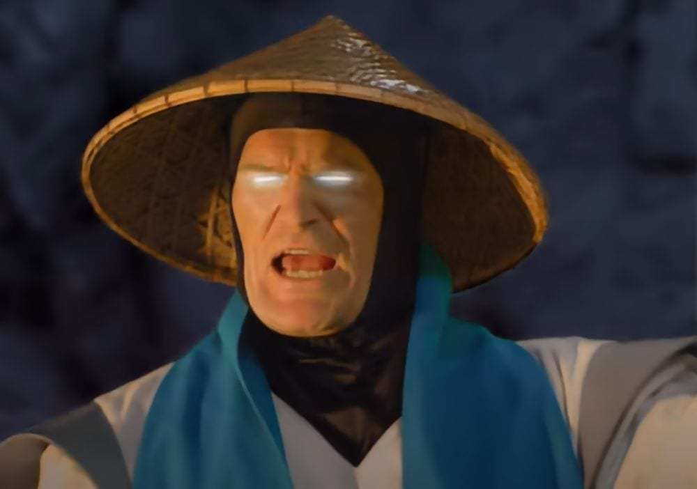 Raiden from a live action cutscene.
