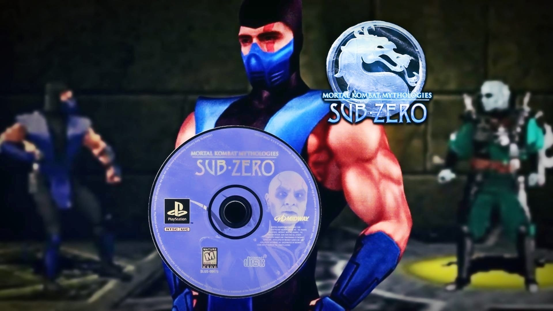A collection of images related to the game Mortal Kombat Mythologies: Sub-Zero