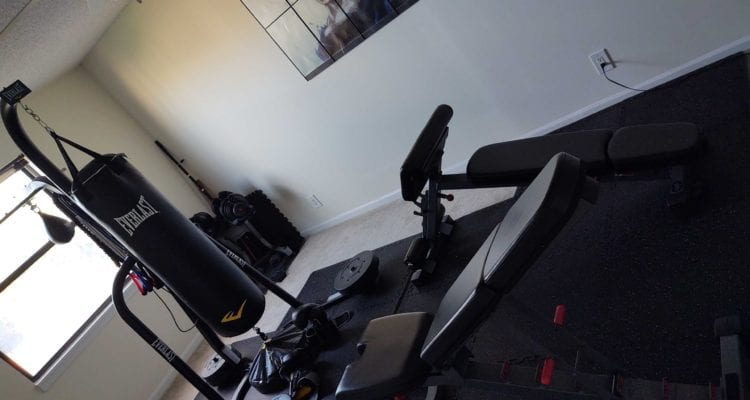 A picture of my current home gym.