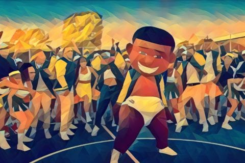 A stylized screenshot from DaBaby's music video for BALL IF I WANT TO.