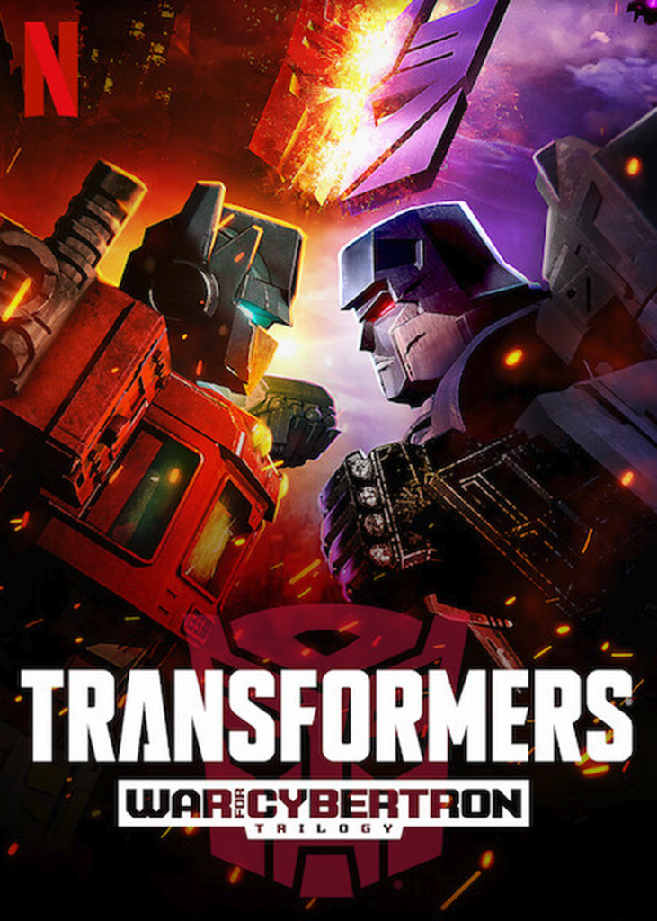 The characters Optimus Prime and Megatron facing off head-to-head in a promo for Netflix's new show based on the Transformers franchise.